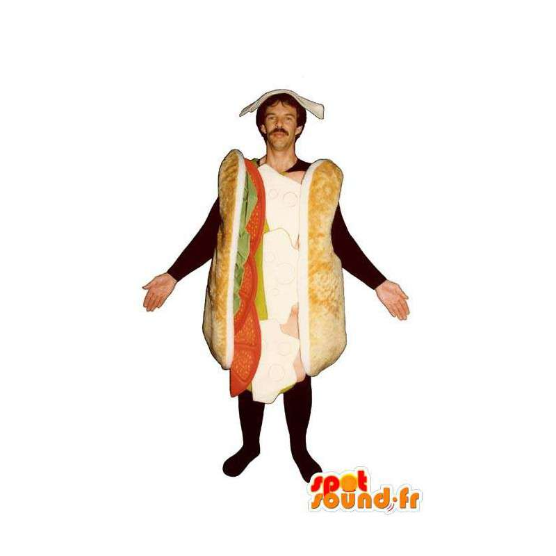 Mascotte de sandwich géant. Costume de sandwich - MASFR007193 - Mascottes Fast-Food