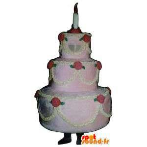 Mascot kakku, jättiläinen. Jättiläinen kakku Costume - MASFR007196 - Mascottes de patisserie
