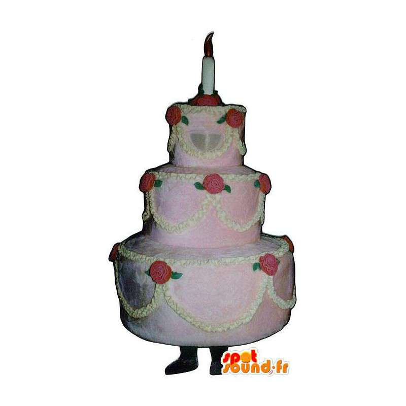 Mascotte Torta nuziale, Giant. Torta gigante Costume - MASFR007196 - Mascotte della pasticceria