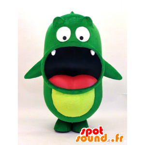Puchibozaurusu mascotte. Dinosauro verde mascotte, divertente - MASFR28336 - Yuru-Chara mascotte giapponese