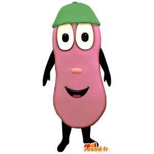 Roze, reuze aubergine Mascot