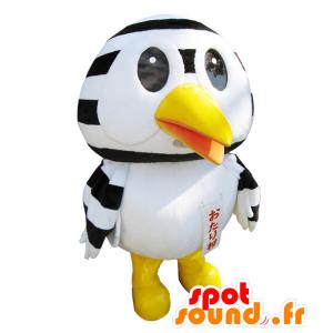 Otari-mura kun maskot. Hvid og sort fuglemaskot - Spotsound