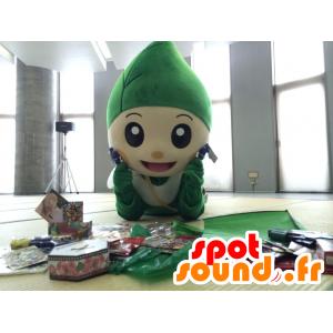Mascotte gigante foglia verde e sorridente - MASFR28407 - Yuru-Chara mascotte giapponese