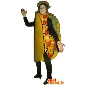 Taco maskotti, jättiläinen burritos - MASFR007208 - Mascottes Fast-Food