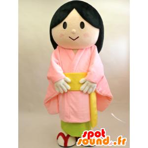 Komachi-chan mascotte. Mascotte donna asiatica - MASFR28427 - Yuru-Chara mascotte giapponese