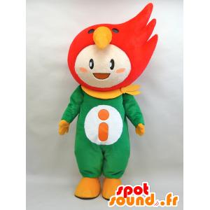 TakaRin mascotte. Ragazzo con una mascotte uccello rosso - MASFR28432 - Yuru-Chara mascotte giapponese