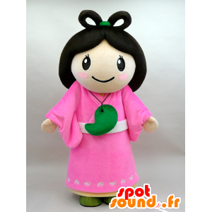 Nuna mascotte. Brunette in abito rosa Mascot - MASFR28434 - Yuru-Chara mascotte giapponese