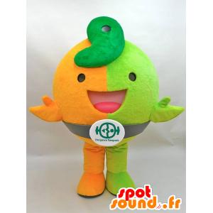 Jiomaru mascotte. Arancione e verde dinosauro mascotte - MASFR28435 - Yuru-Chara mascotte giapponese