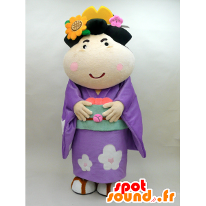 Koume mascot. Mascot flowered Japanese woman - MASFR28438 - Yuru-Chara Japanese mascots