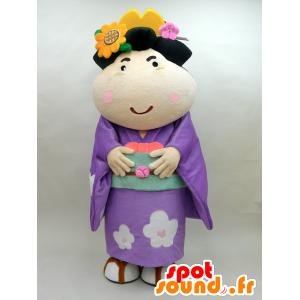 Mascotte de Koume. Mascotte de femme japonaise fleurie - MASFR28438 - Mascottes Yuru-Chara Japonaises