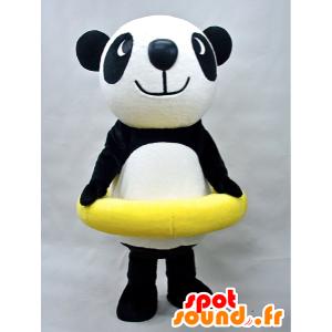 Puropanda Maskottchen. Panda-Maskottchen mit einer Boje - MASFR28439 - Yuru-Chara japanischen Maskottchen