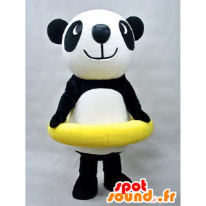 Puropanda mascotte. Panda mascotte con una boa - MASFR28439 - Yuru-Chara mascotte giapponese