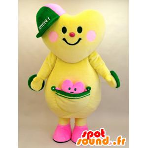 Mascot Toyopi en Tokokoron. hart met zijn kleine mascotte - MASFR28440 - Yuru-Chara Japanse Mascottes