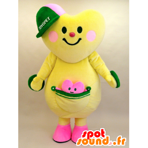 Mascot Toyopi og Tokokoron. hjerte med sin lille maskot - MASFR28440 - Yuru-Chara japanske Mascots