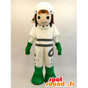 Mascotte Mayuda Man. Futuristico ragazzo mascotte - MASFR28441 - Yuru-Chara mascotte giapponese