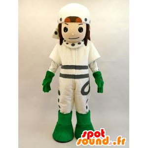 Mascot Mayuda Man. futuristisk gutt Mascot - MASFR28441 - Yuru-Chara japanske Mascots