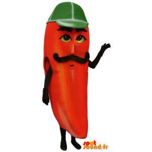 Mascot Riesen-Chili-Pfeffer.Kostüm rot Pfeffer - MASFR007214 - Maskottchen von Gemüse
