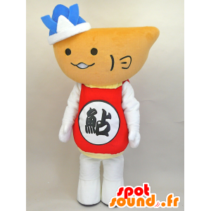 Mascot Hiayu kun. Snowman mascot, giant bowl - MASFR28443 - Yuru-Chara Japanese mascots
