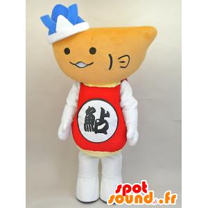 Mascot Hiayu kun. sneeuwman mascotte, reuzekom - MASFR28443 - Yuru-Chara Japanse Mascottes
