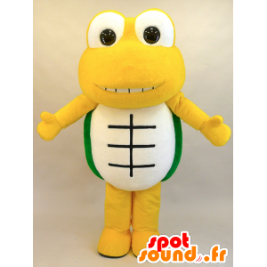 Geel schildpad mascotte, groen en wit, zeer succesvol - MASFR28444 - Yuru-Chara Japanse Mascottes