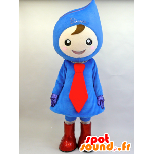 Blue and red snowman mascot teardrop - MASFR28447 - Yuru-Chara Japanese mascots