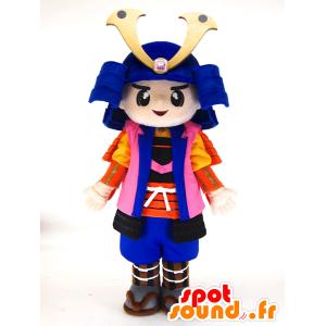 Μασκότ Shinma chan. Μασκότ πολύχρωμο σαμουράι - MASFR28448 - Yuru-Χαρά ιαπωνική Μασκότ