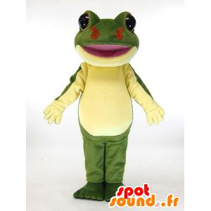 Kerotta chan mascot. Green and yellow frog mascot - MASFR28450 - Yuru-Chara Japanese mascots