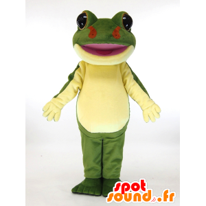 Mascot Kerotta chan. groen en geel kikker mascotte - MASFR28450 - Yuru-Chara Japanse Mascottes