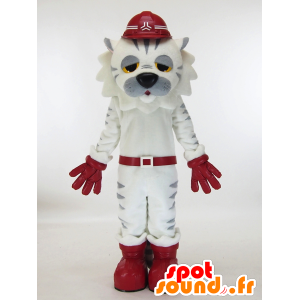 Mascot white and gray tiger tired - MASFR28451 - Yuru-Chara Japanese mascots