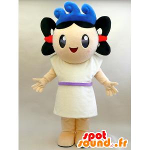Umit kun mascotte. Ragazza mascotte con le onde - MASFR28453 - Yuru-Chara mascotte giapponese