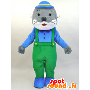 Mascot Kawauso Akuakun. Maskottchen-grau und weiß Seelöwen - MASFR28454 - Yuru-Chara japanischen Maskottchen