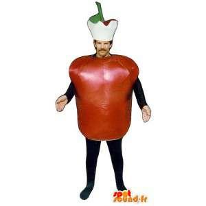 Roter Apfel Maskottchen Riesen - MASFR007218 - Obst-Maskottchen