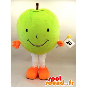 Nasshi Maskottchen. Riesiger grüner Apfel Mascotete - MASFR28455 - Yuru-Chara japanischen Maskottchen