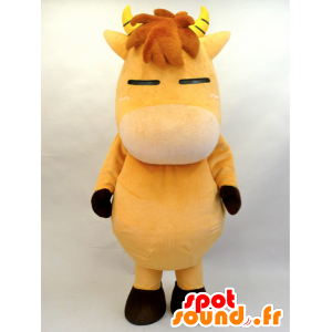 Brown horse mascot foal with horns - MASFR28456 - Yuru-Chara Japanese mascots