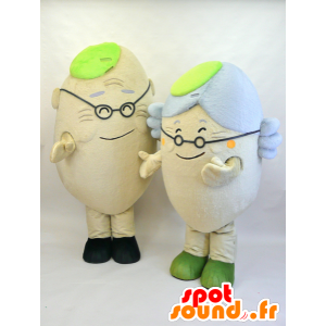 Mascots of elderly people, a man and a woman - MASFR28458 - Yuru-Chara Japanese mascots