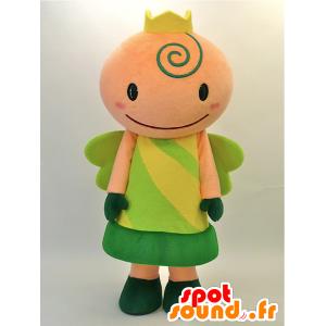 Mascot Kurutchi. Fairy Mascot, Grønn Princess - MASFR28460 - Yuru-Chara japanske Mascots