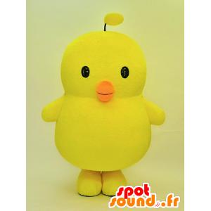 Big giallo pulcino di mascotte, molto carino - MASFR28461 - Yuru-Chara mascotte giapponese