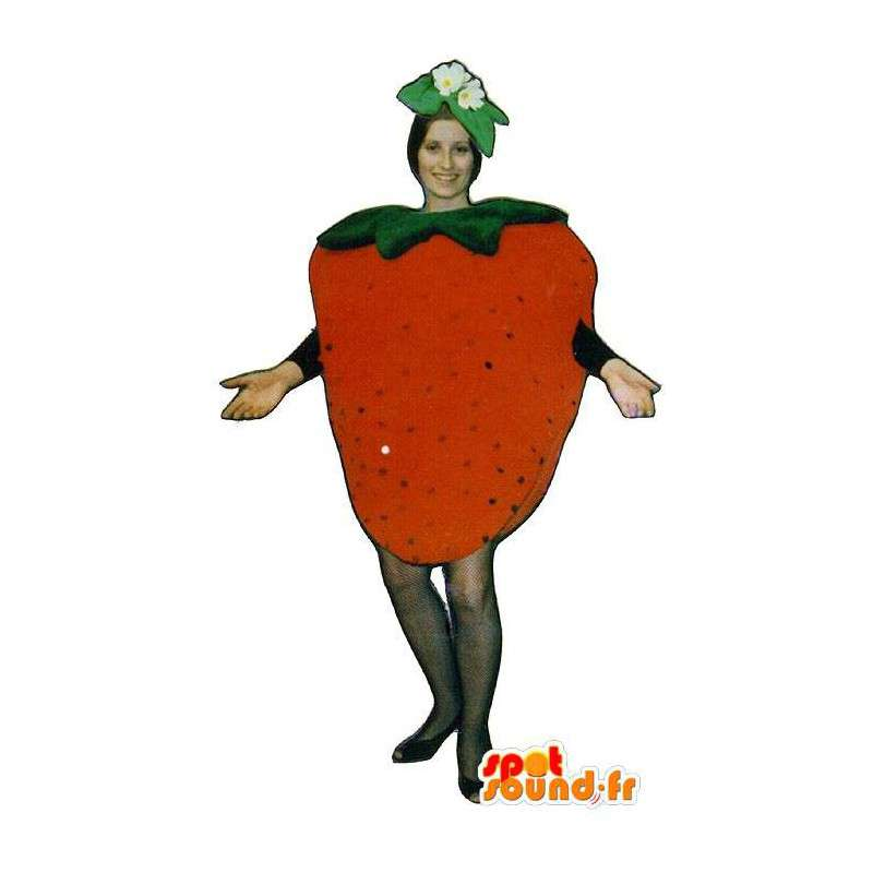 Mascot giant strawberry. Strawberry Costume - MASFR007220 - Fruit mascot