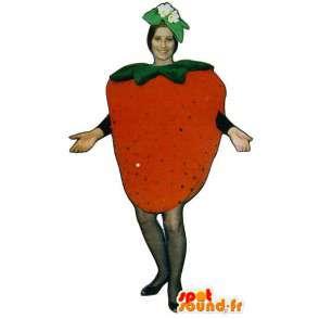 Mascotte de fraise géante. Costume de fraise - MASFR007220 - Mascotte de fruits