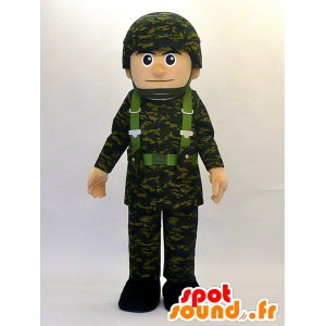 Mascot Mamoru kun. Mascot militaire man - MASFR28462 - Yuru-Chara Japanse Mascottes