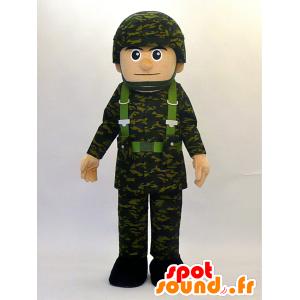 Mascotte de Mamoru kun. Mascotte d'homme militaire - MASFR28462 - Mascottes Yuru-Chara Japonaises