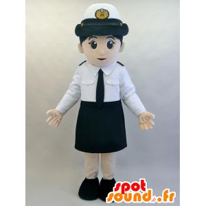 Mascotte d'hôtesse de l'air, très élégante, en uniforme - MASFR28463 - Mascottes Yuru-Chara Japonaises