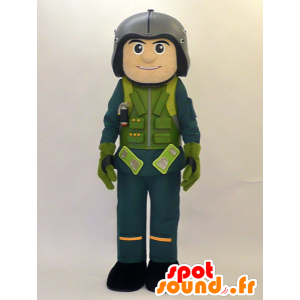 Mascot Xiang KUN. Pilot Mascot, Militær - MASFR28464 - Yuru-Chara japanske Mascots
