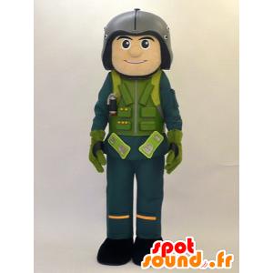 Mascotte de Xiang kun. Mascotte de pilote, de militaire - MASFR28464 - Mascottes Yuru-Chara Japonaises