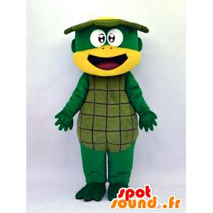 Mascotte de Kappa-kun, tortue verte souriante - MASFR26126 - Yuru-Chara mascotte giapponese