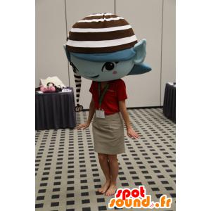 Brownie alf-maskot, lille blå alf med hue - Spotsound maskot