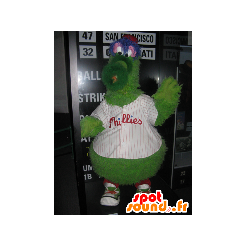 Verde mostro mascotte, soffice, divertente e peloso - MASFR25057 - Yuru-Chara mascotte giapponese