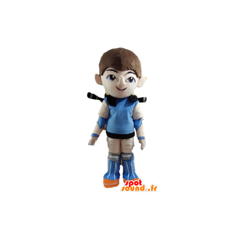 Futuristic mascot boy, superhero - MASFR028505 - Superhero mascot