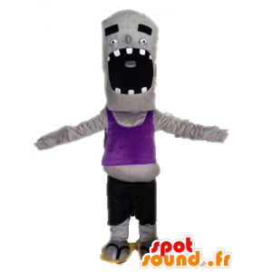 Gray zombie mascot, fun and giant - MASFR028524 - Monsters mascots