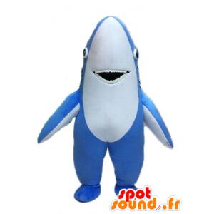 Mascotte in blu e squalo bianco, gigante - MASFR028528 - Squalo mascotte